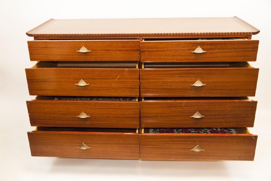 Vintage RWAY Furniture Dresser W/ Shell Motifs - 6