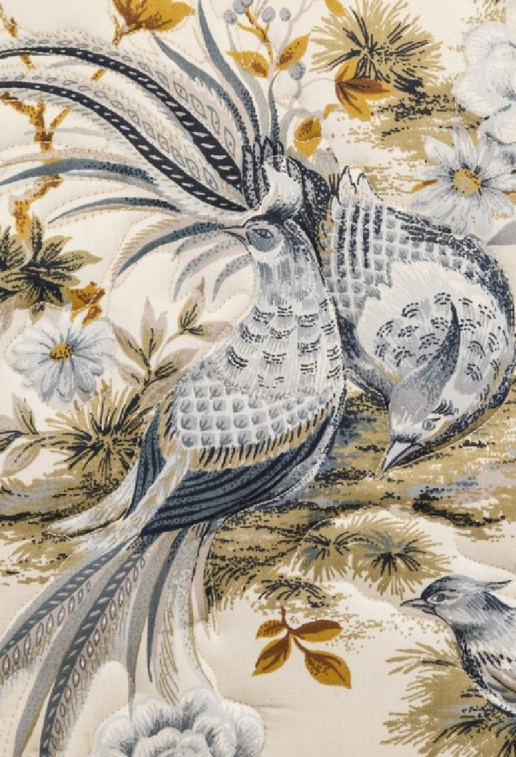 Oriental Style Blue Bird Wingback Arm Chair - 5