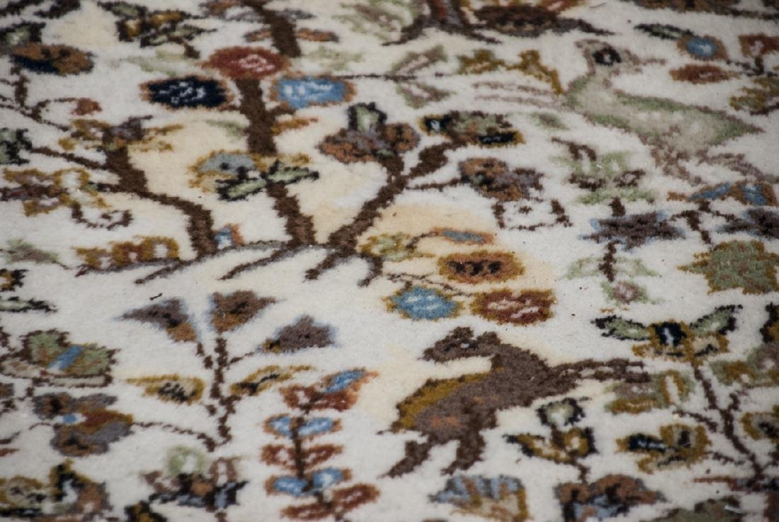 Persian Knotted Wool Rug W/ Animal Motif - 3