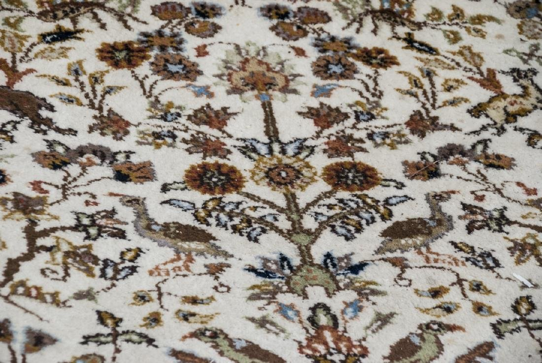 Persian Knotted Wool Rug W/ Animal Motif - 4