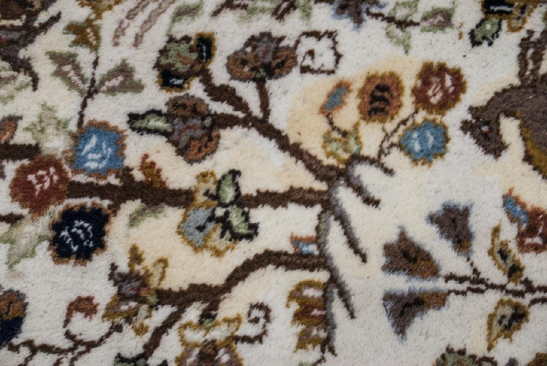 Persian Knotted Wool Rug W/ Animal Motif - 7