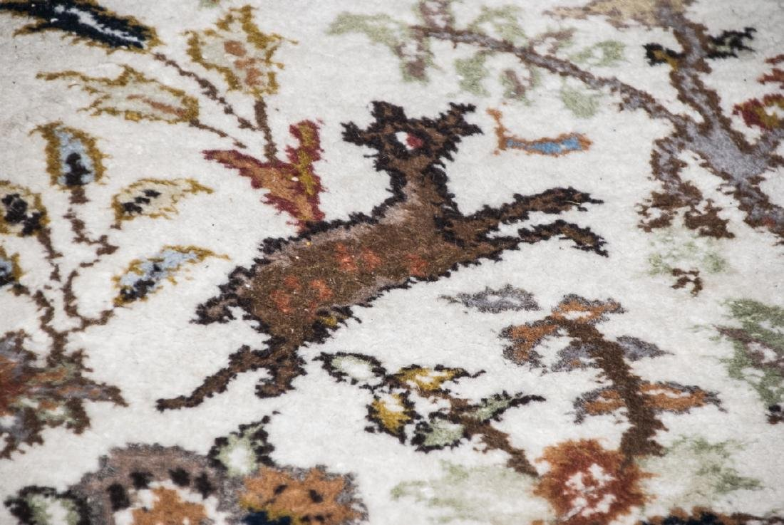 Persian Knotted Wool Rug W/ Animal Motif - 9