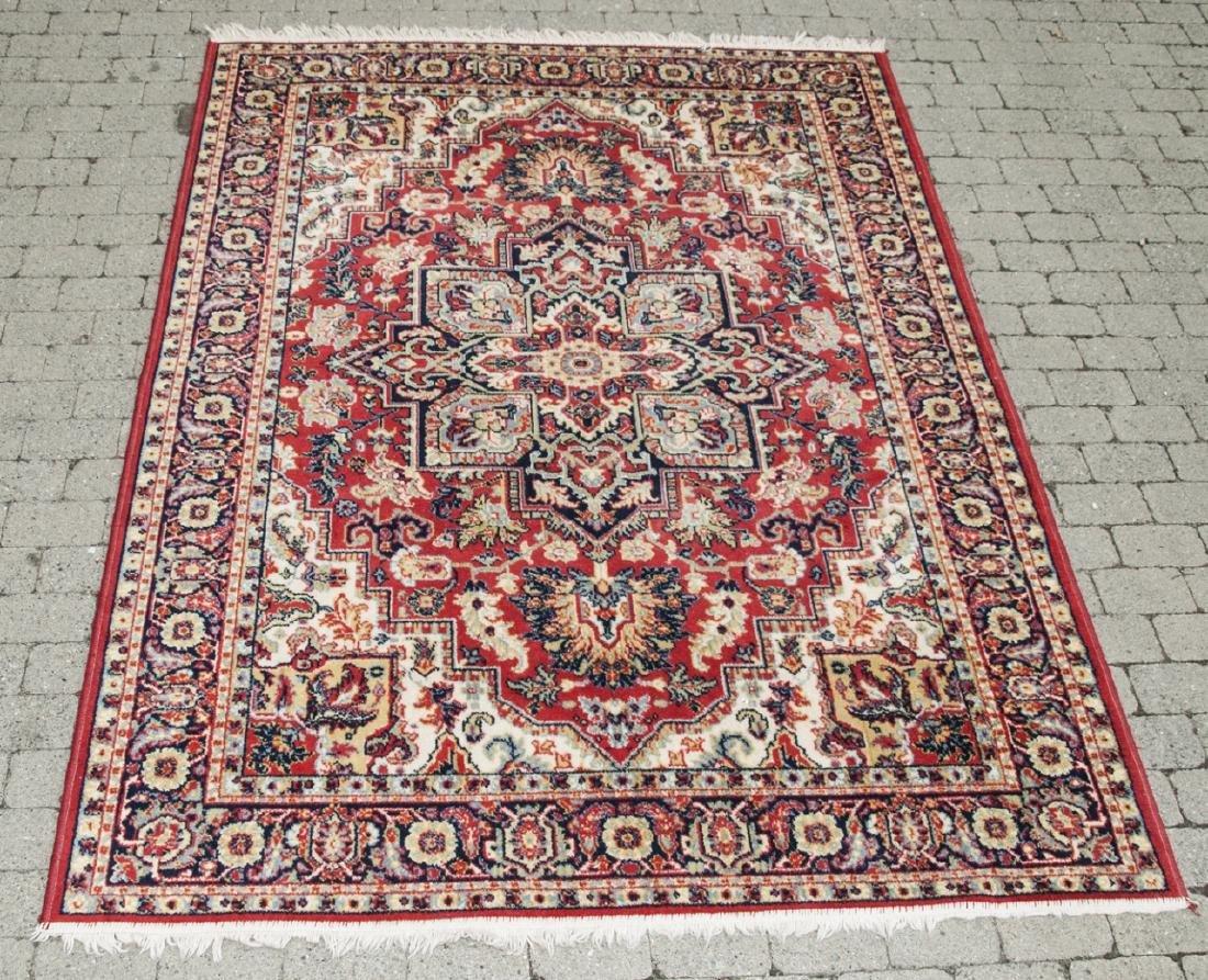 Vintage Red Persian Style Rug W/ Starburst