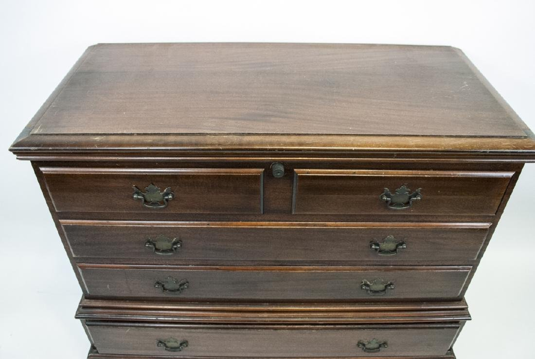 Vintage West Branch Trunk W/ Faux Drawers - 2