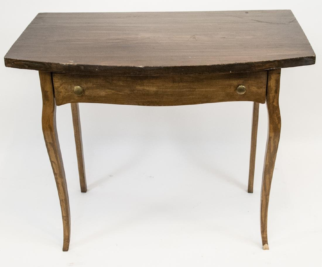 Vintage Wooden Console Table W/ Slender Legs