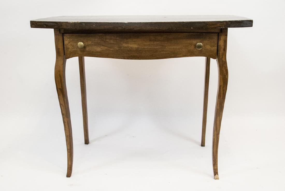 Vintage Wooden Console Table W/ Slender Legs - 2