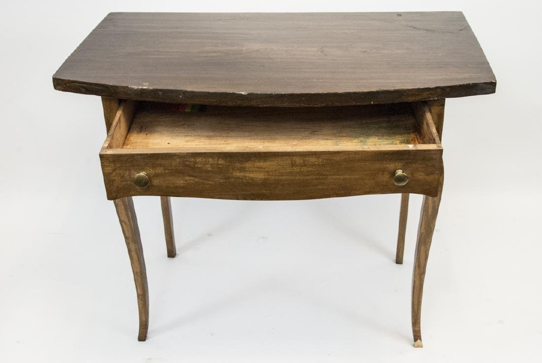 Vintage Wooden Console Table W/ Slender Legs - 3