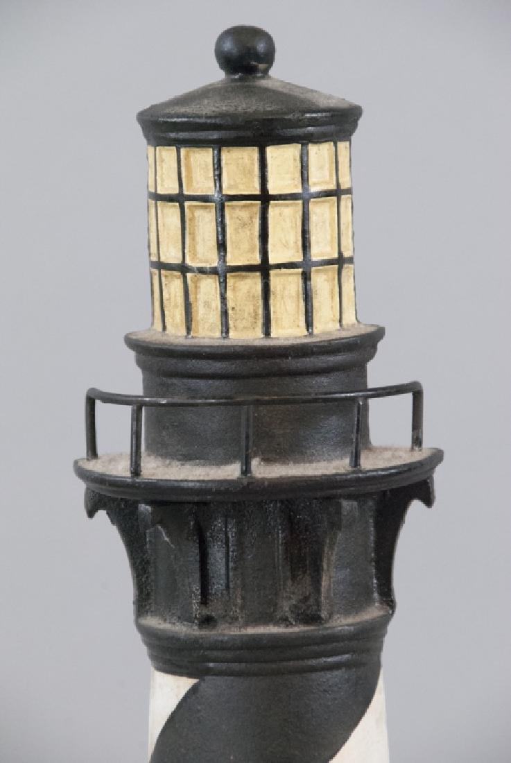 Vintage Cast Iron Light House Doorstop - 3