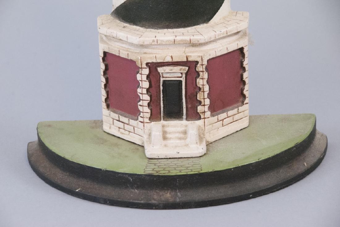 Vintage Cast Iron Light House Doorstop - 5