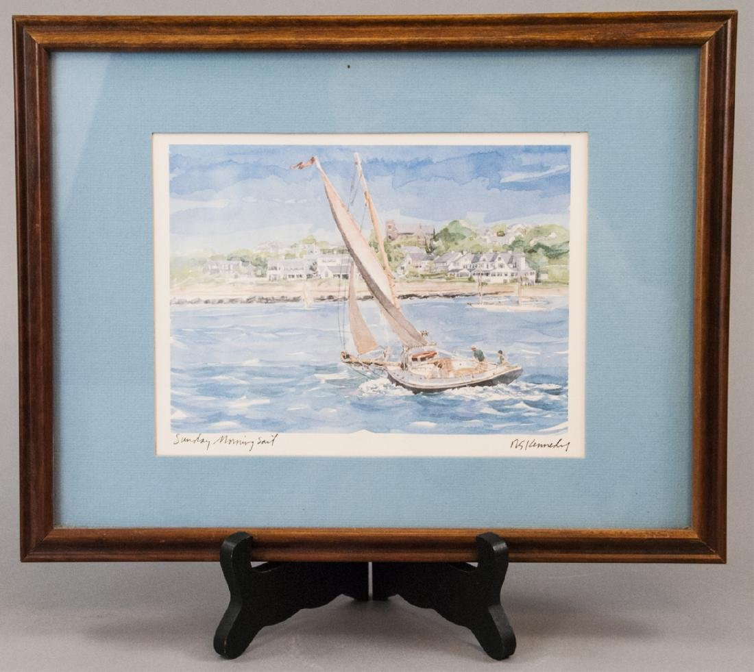 Framed Robert Kennedy Print of Watercolor