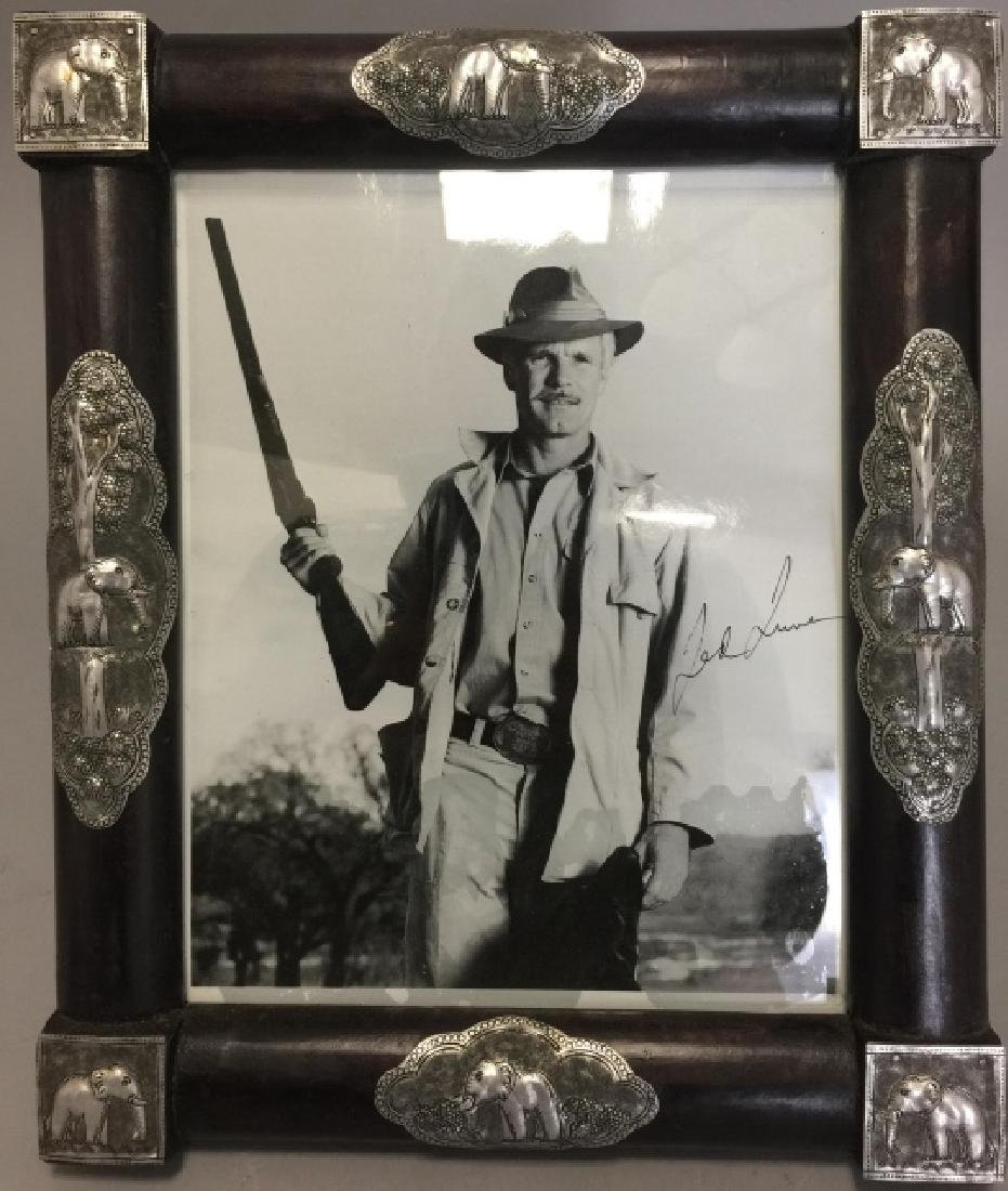 Autographed Framed Ted Turner Photograph