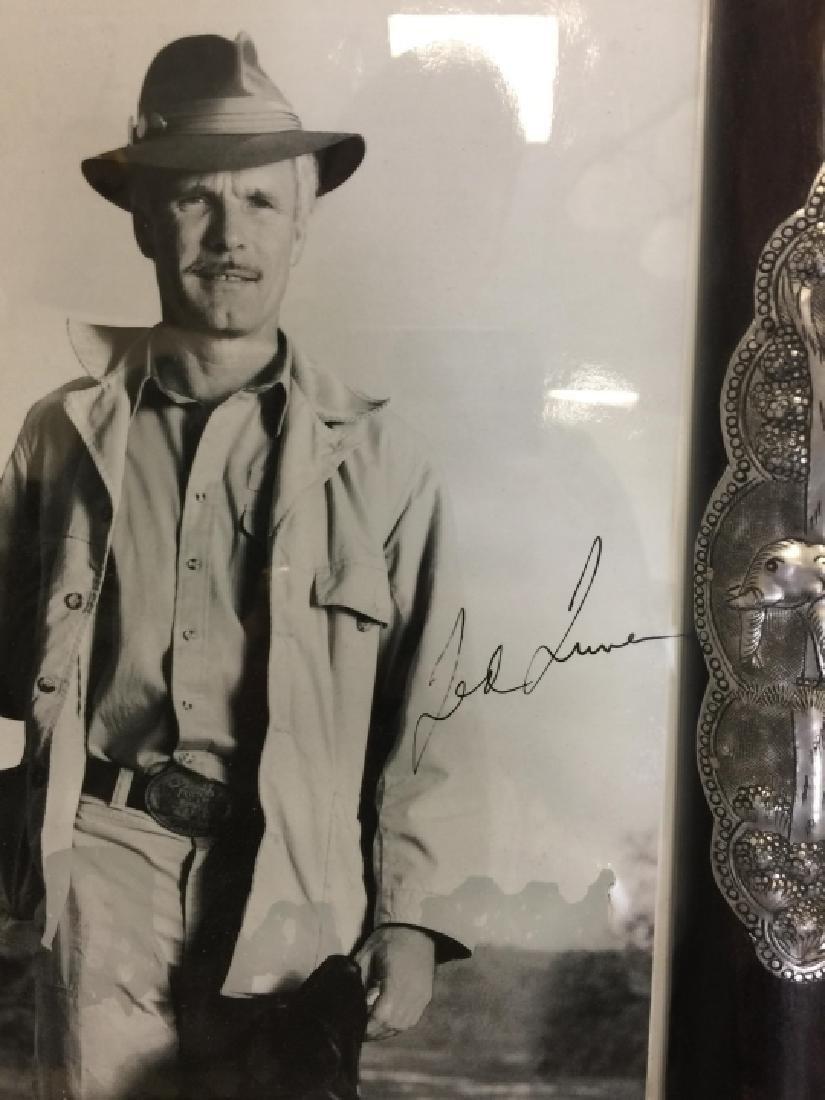 Autographed Framed Ted Turner Photograph - 2