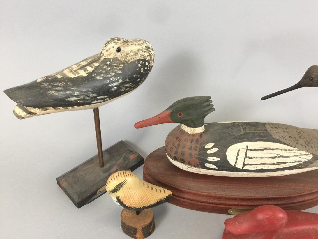 Assorted Lot Of  4 Wood Decoys & 1 Box - 3