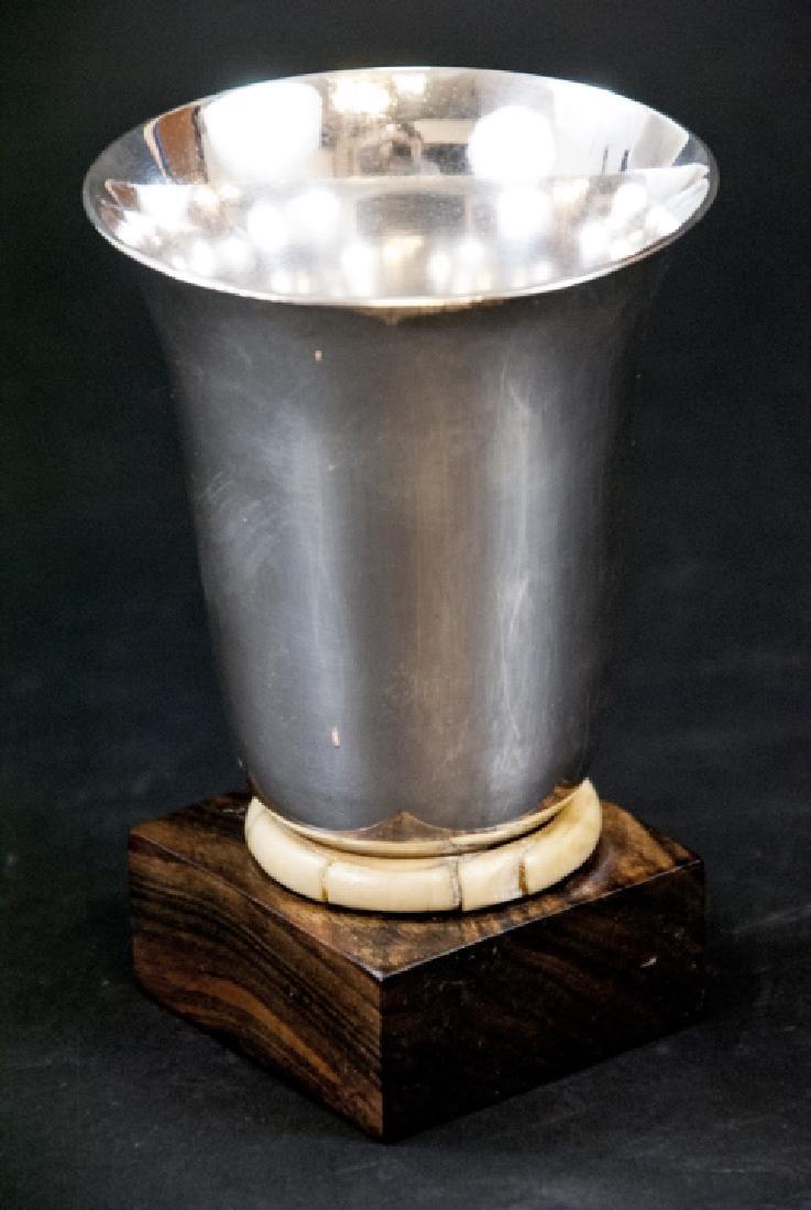 Art Deco Silver & Rosewood Gay & Perrin Vase