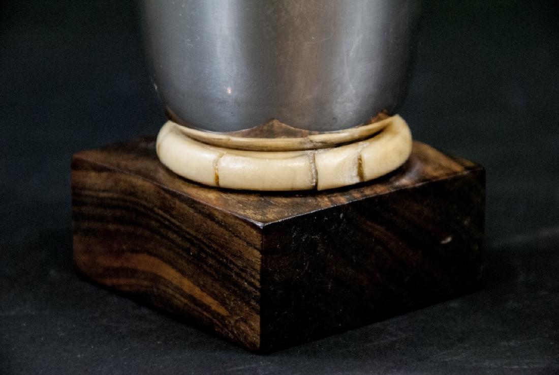 Art Deco Silver & Rosewood Gay & Perrin Vase - 4