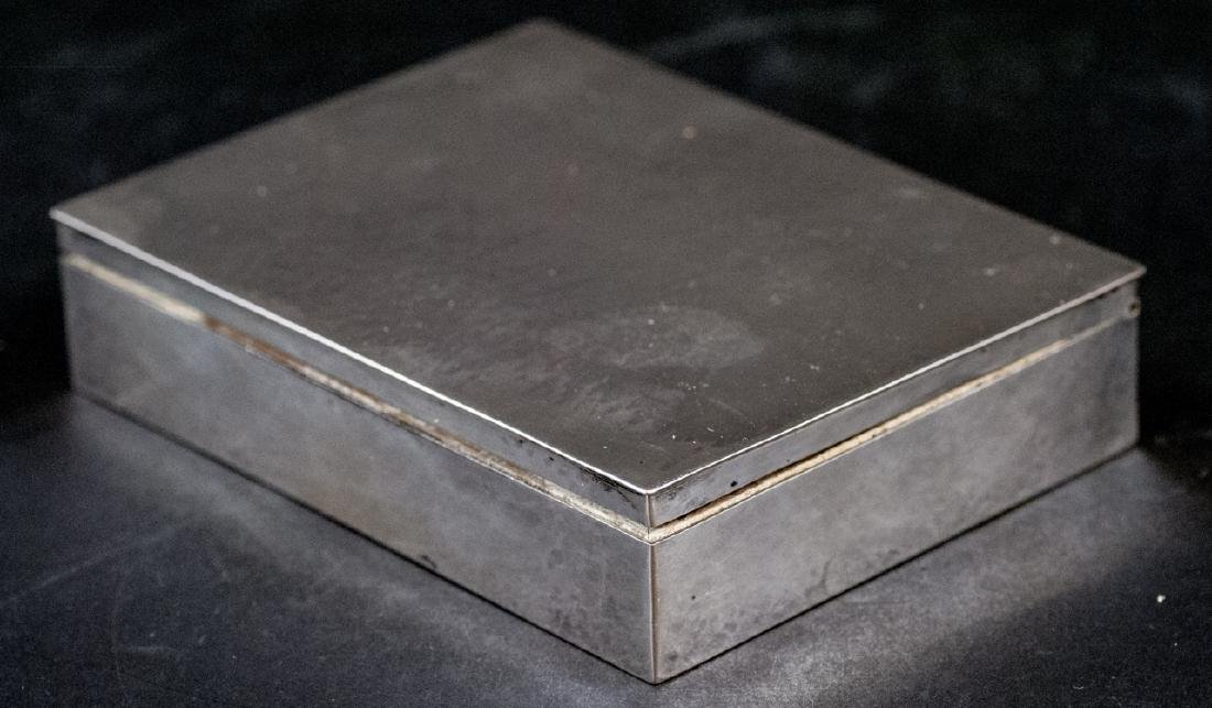Antique German Hand Hammered 800 Silver Box