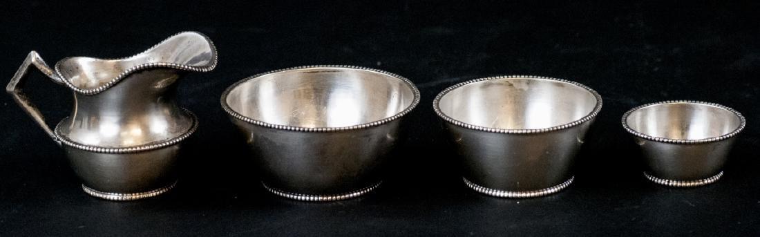 Four Piece Antique Vienna Silver Condiment Set