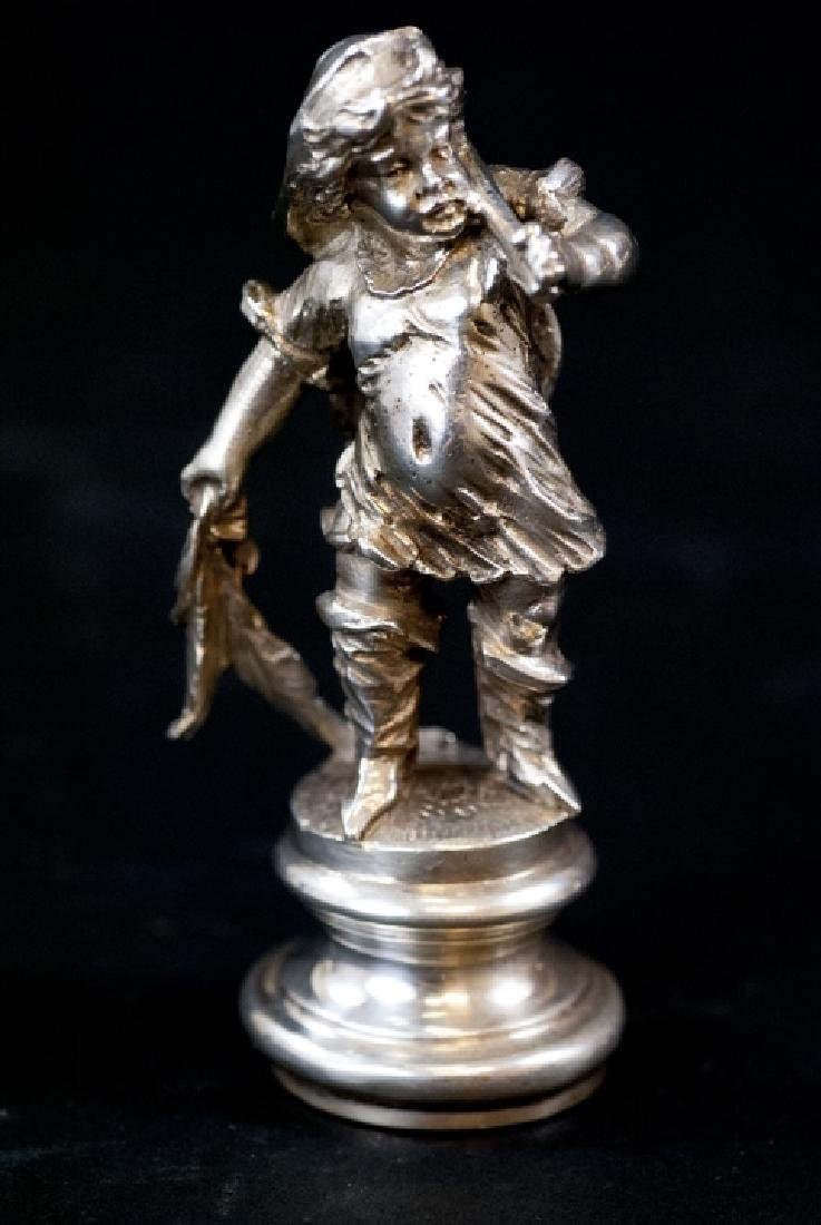 Augsburg German Solid Silver Statue of a Fisherman