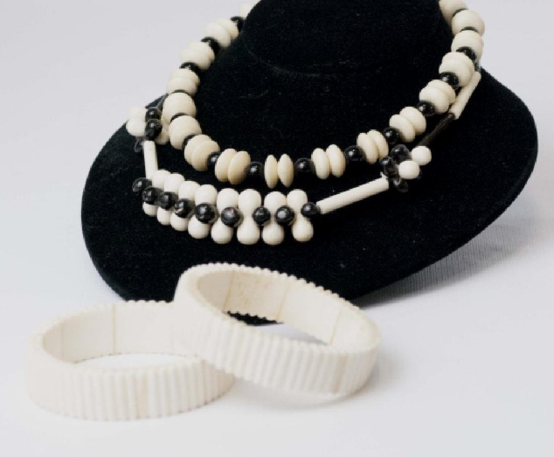 Vintage Hand Carved Bone Necklaces & Bangles