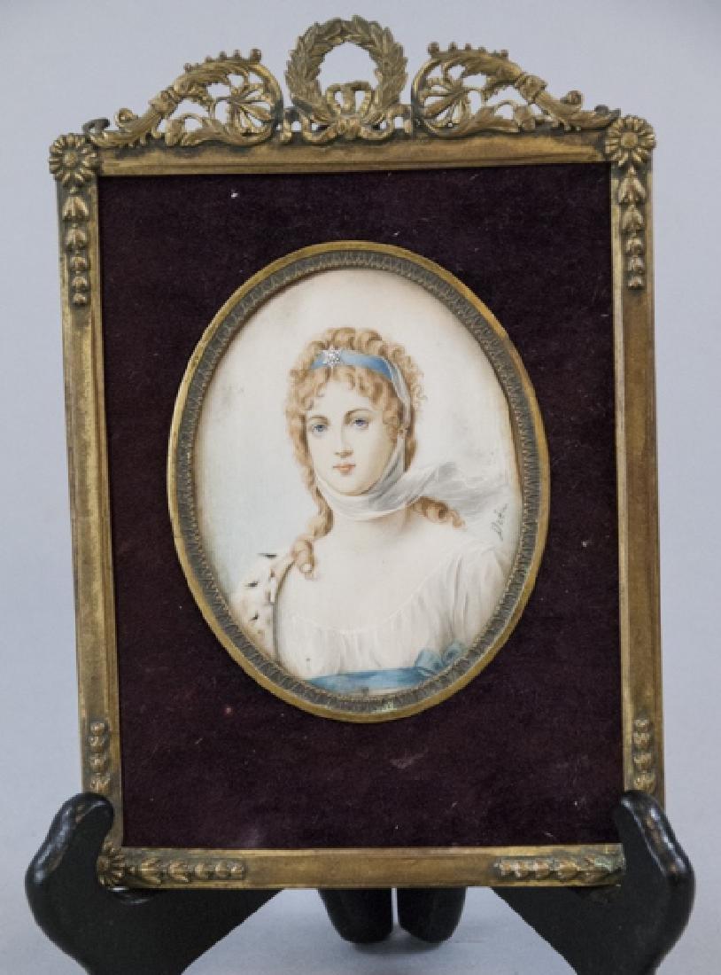 Queen Louise of Prussia Antique Portrait Miniature