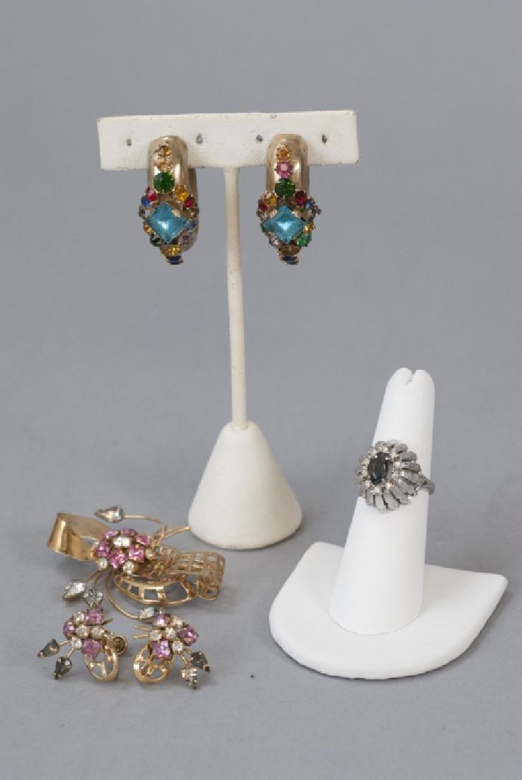 Vintage Signed Designer Rhinestone Costume Jewelry