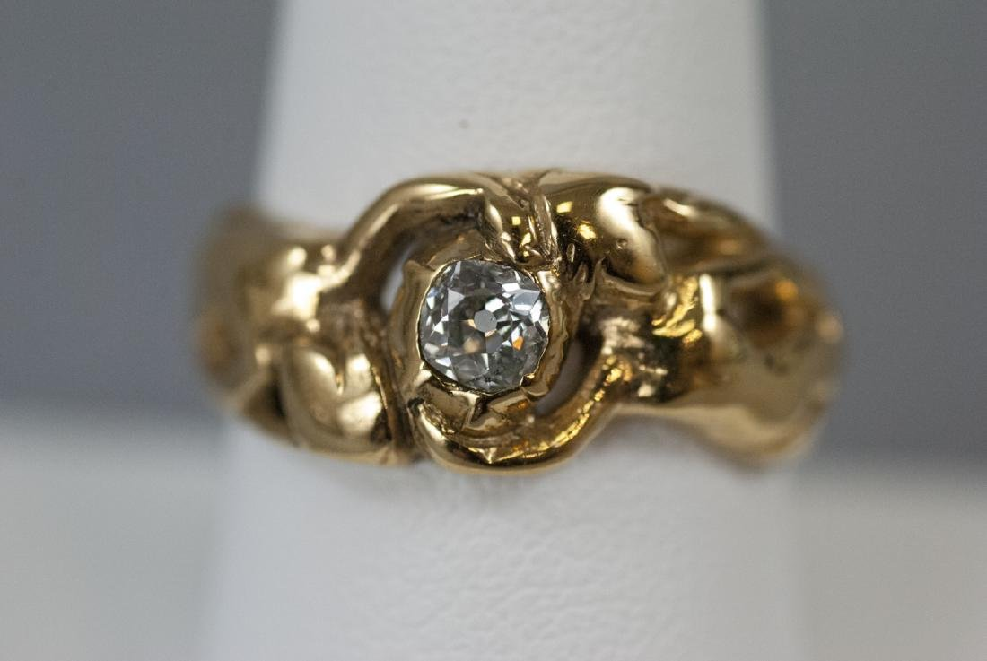 Estate 14kt Gold .45 Old Mine Cut Diamond Ring