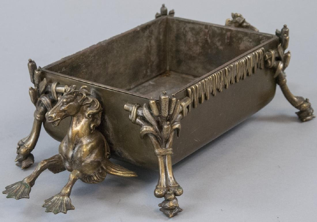 Antique 19th C Bronze Mythological Centerpiece