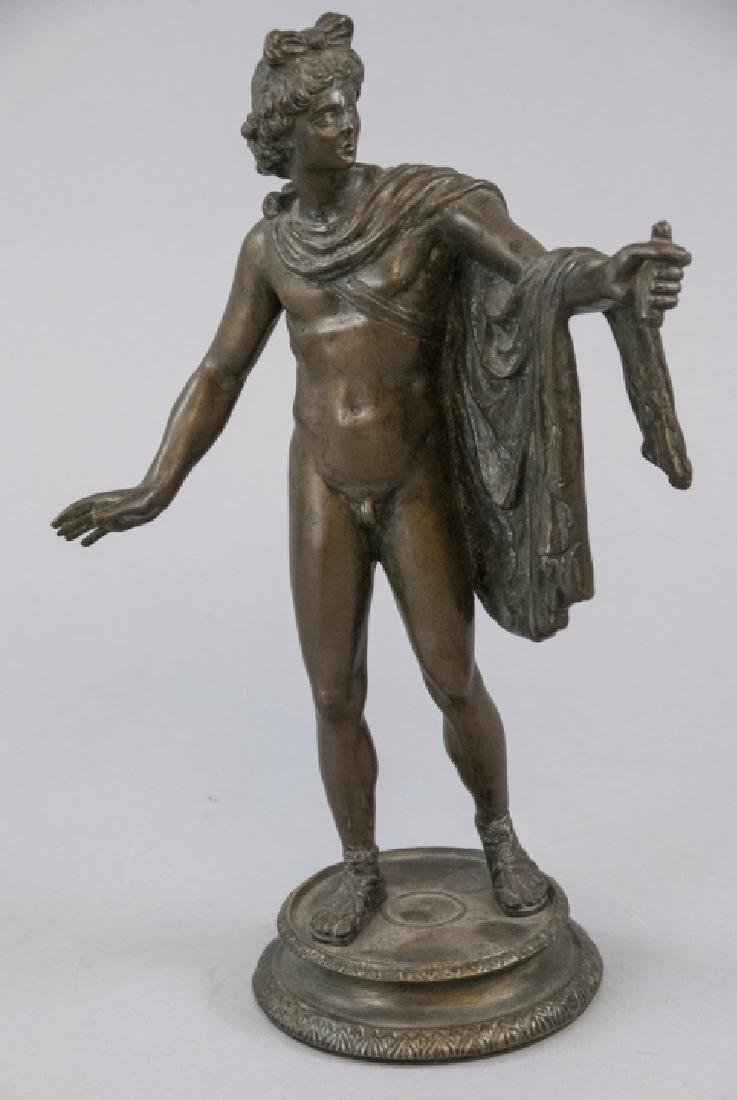 Antique 19th C Grand Tour Nude Statue of a Man
