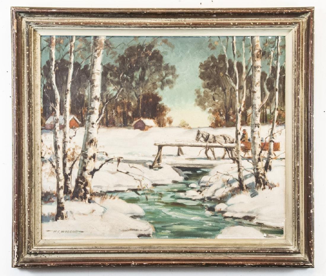 Howard Wolcott Original Acrylic Landscape Painting