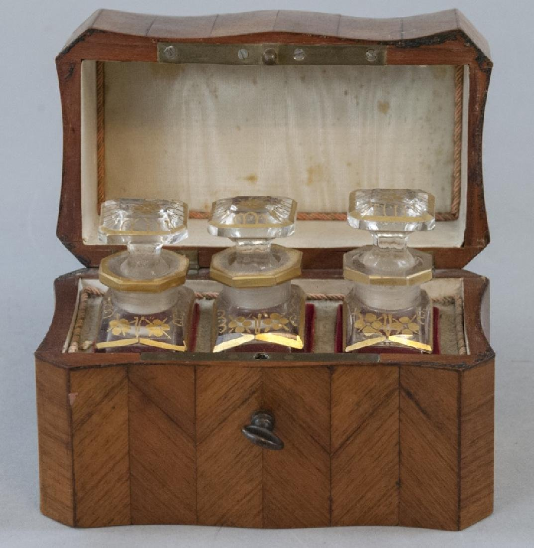 Antique 19th C French Marquetry Perfume Box