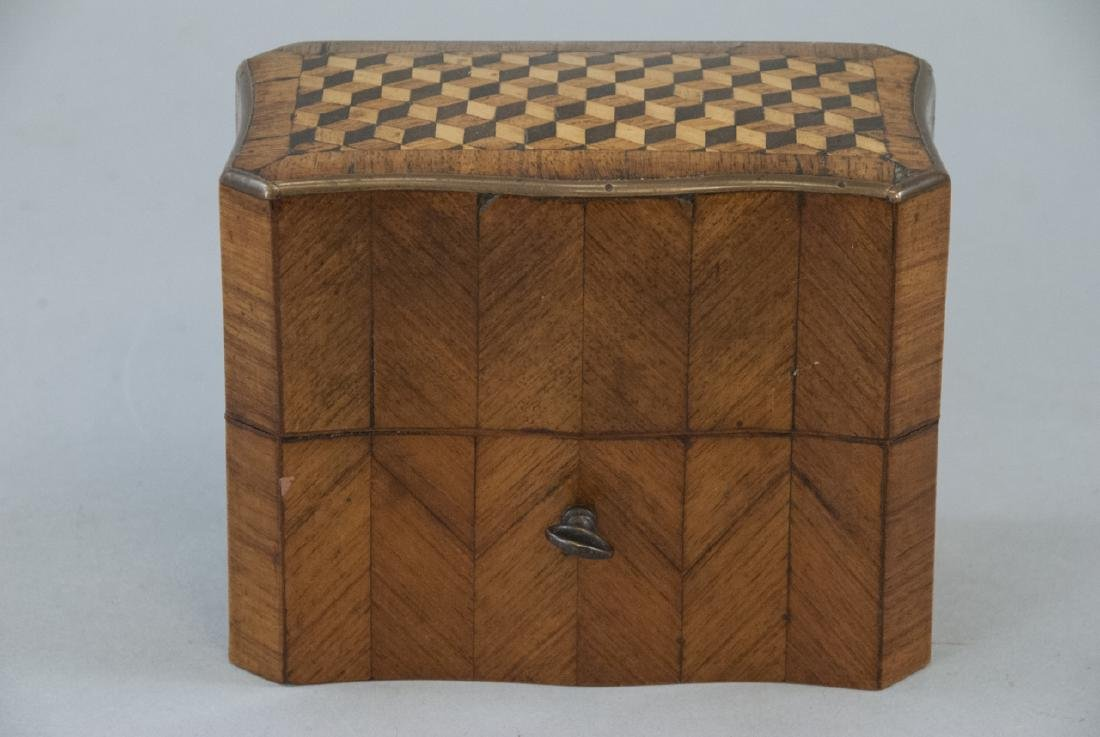 Antique 19th C French Marquetry Perfume Box - 5