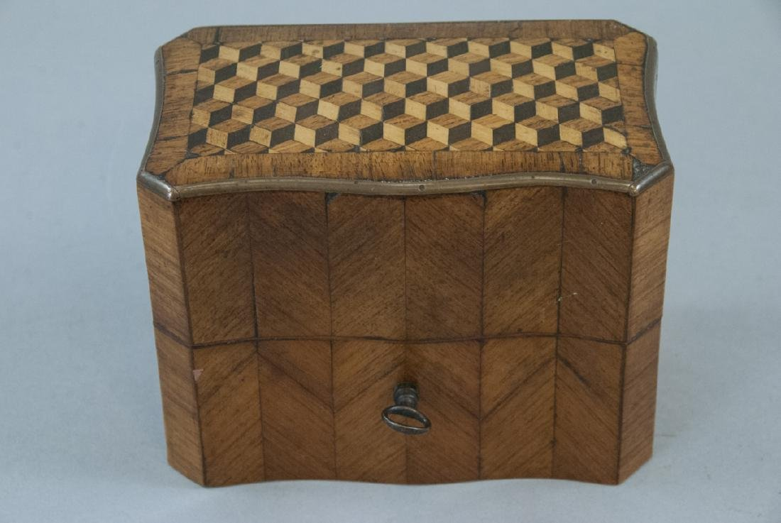 Antique 19th C French Marquetry Perfume Box - 6