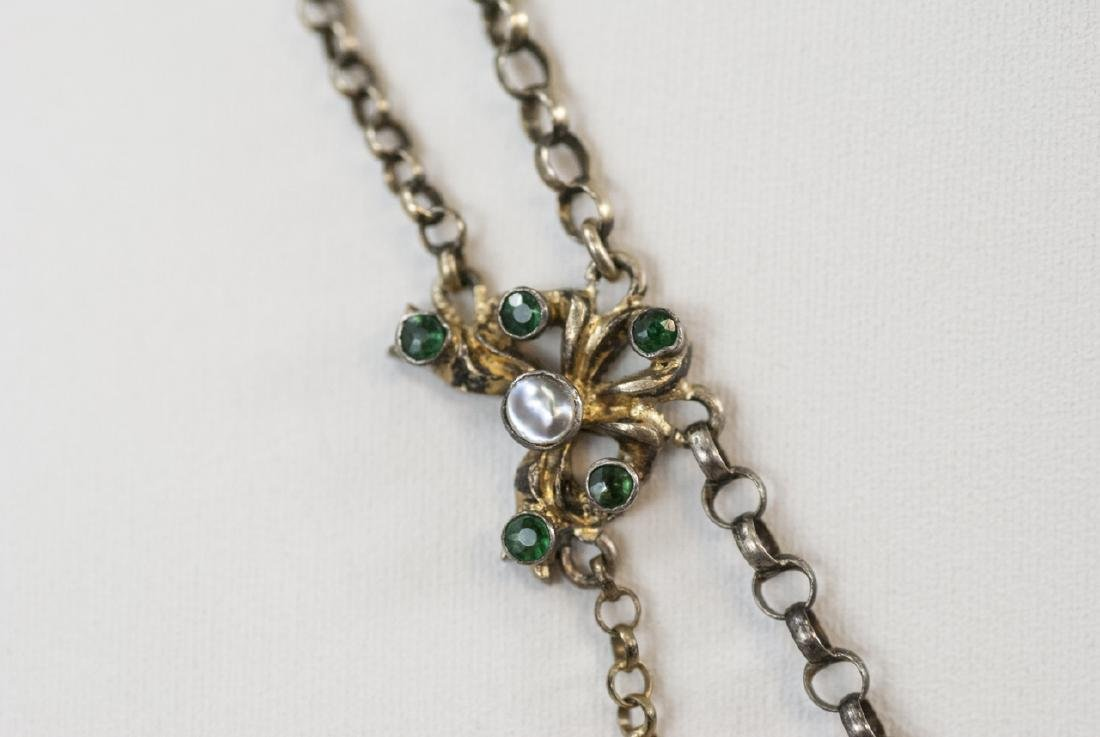 Estate Austro Hungarian Style Gilt Silver Necklace - 3