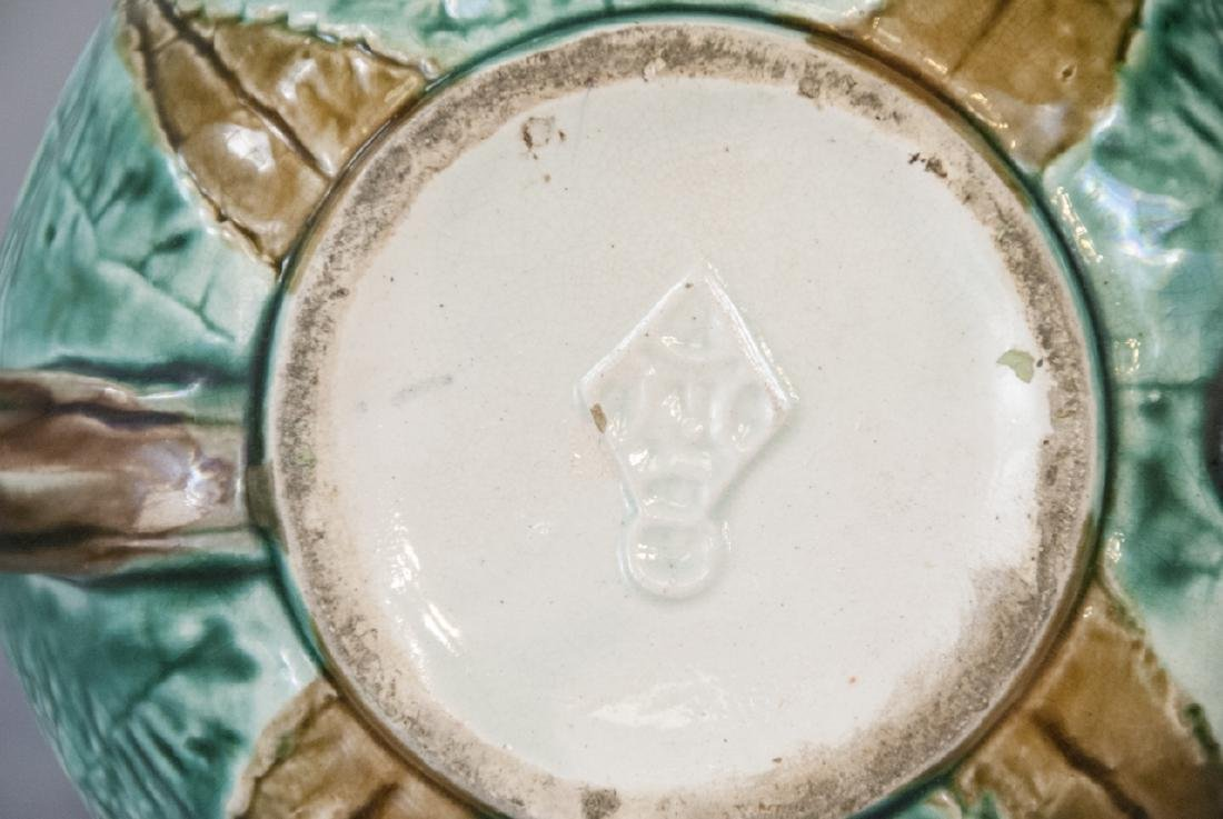 Assorted Majolica Teapot, Creamer & Sugar Dish - 6