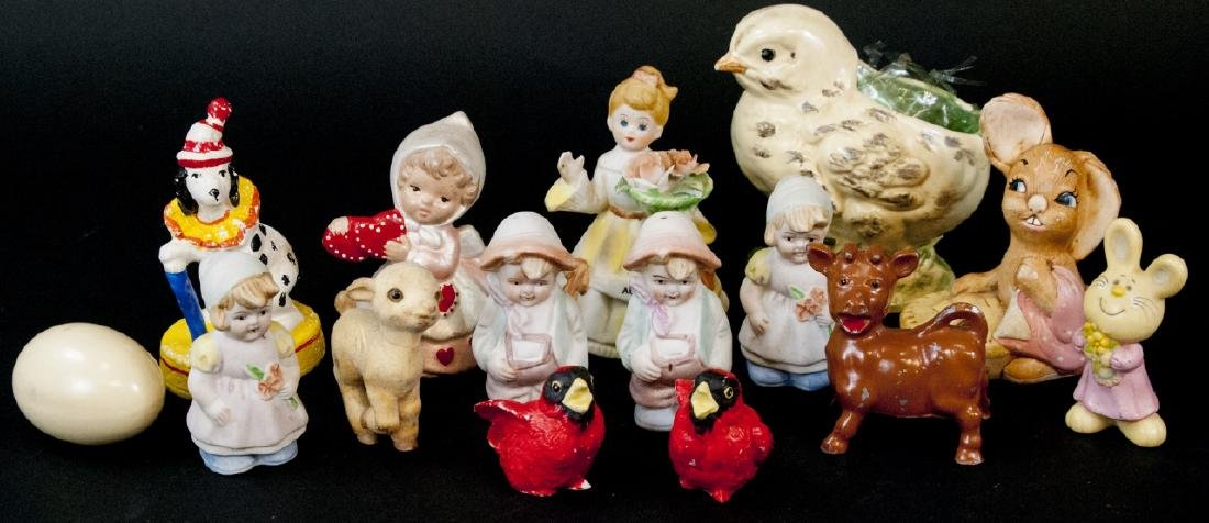 Assorted Lot Of 14 Porcelain Figurines/Miniatures