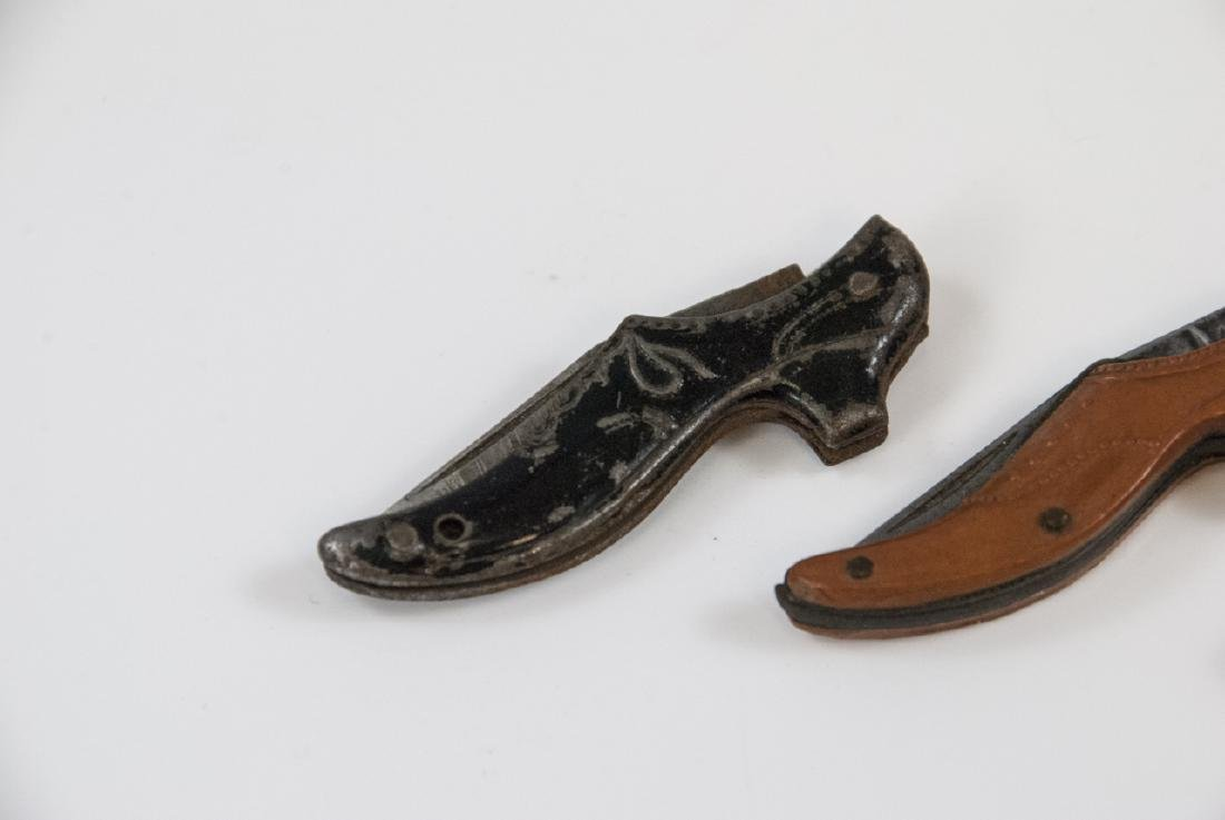Antique 19th C Figural Shoe & Gun Pocket Knives - 3