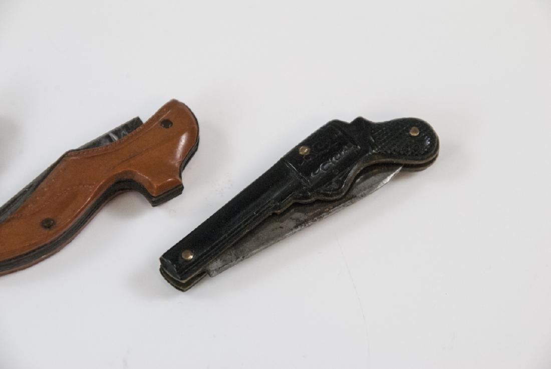 Antique 19th C Figural Shoe & Gun Pocket Knives - 4