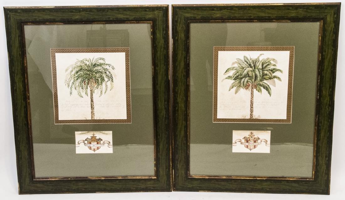 Contemporary Pair Of Tropical Tree Paintings