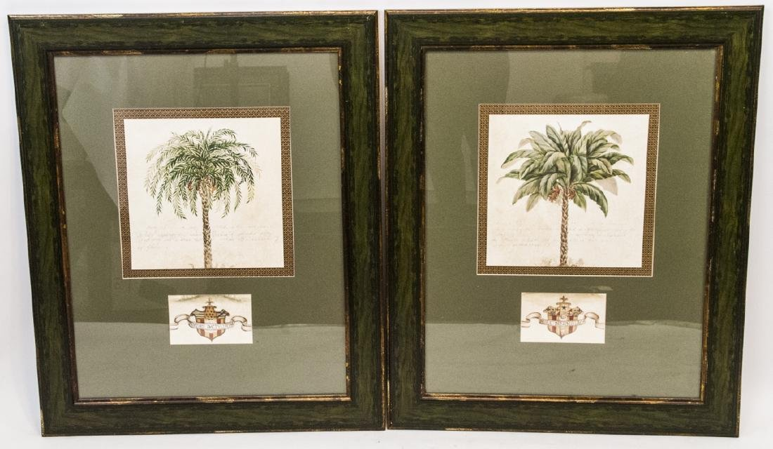 Contemporary Pair Of Tropical Tree Paintings