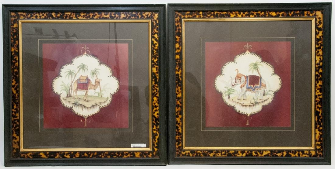 Contemporary Pair of East Indian Animal Paintings