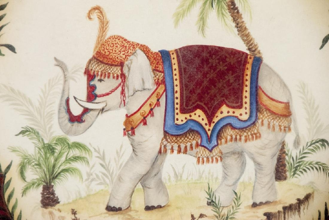Contemporary Pair of East Indian Animal Paintings - 4