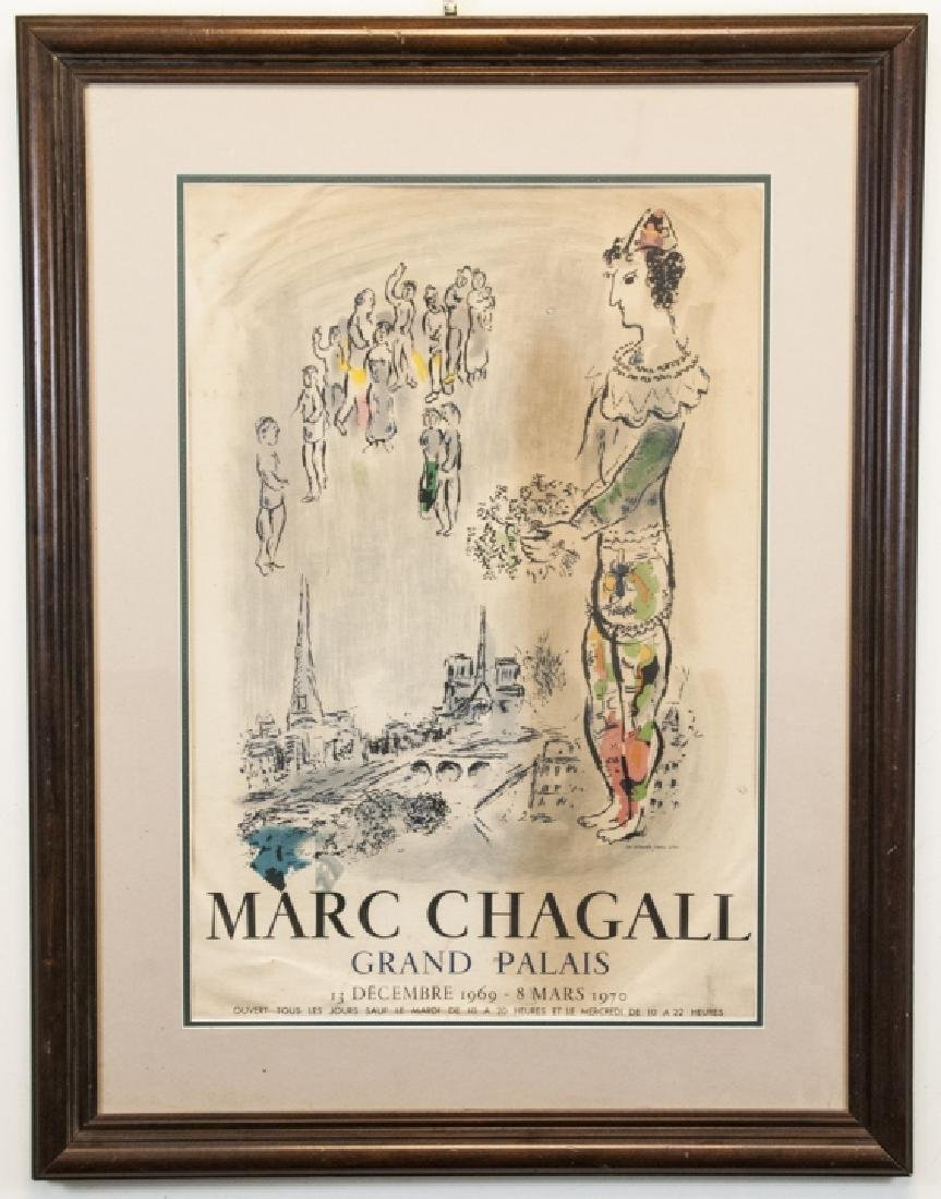 Vintage Marc Chagall Grand Palais Framed Poster