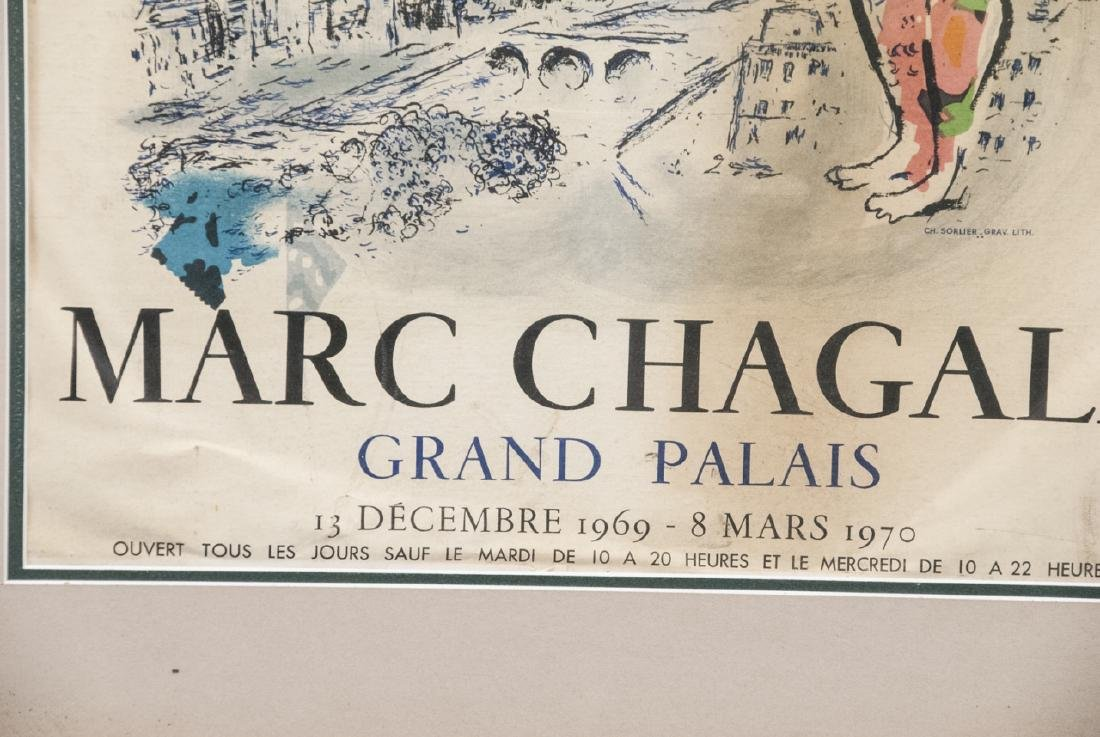 Vintage Marc Chagall Grand Palais Framed Poster - 4