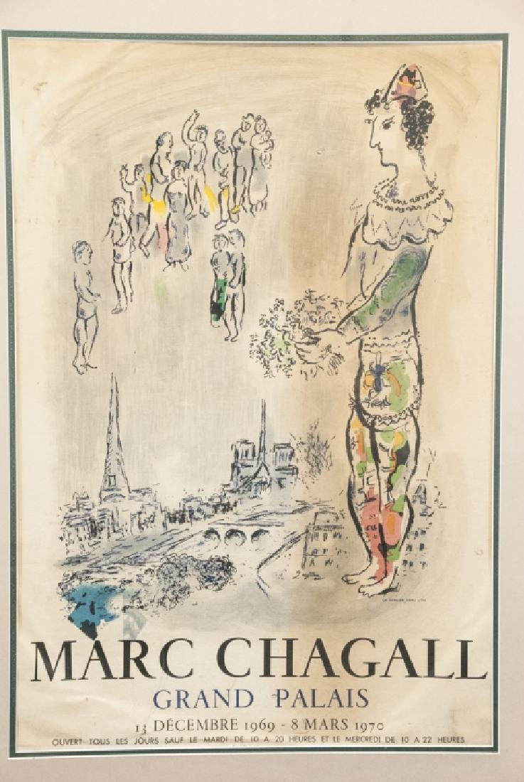Vintage Marc Chagall Grand Palais Framed Poster - 5