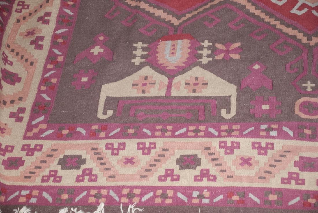 Large Dhurrie Style Wool Rug Southwestern Pattern - 2