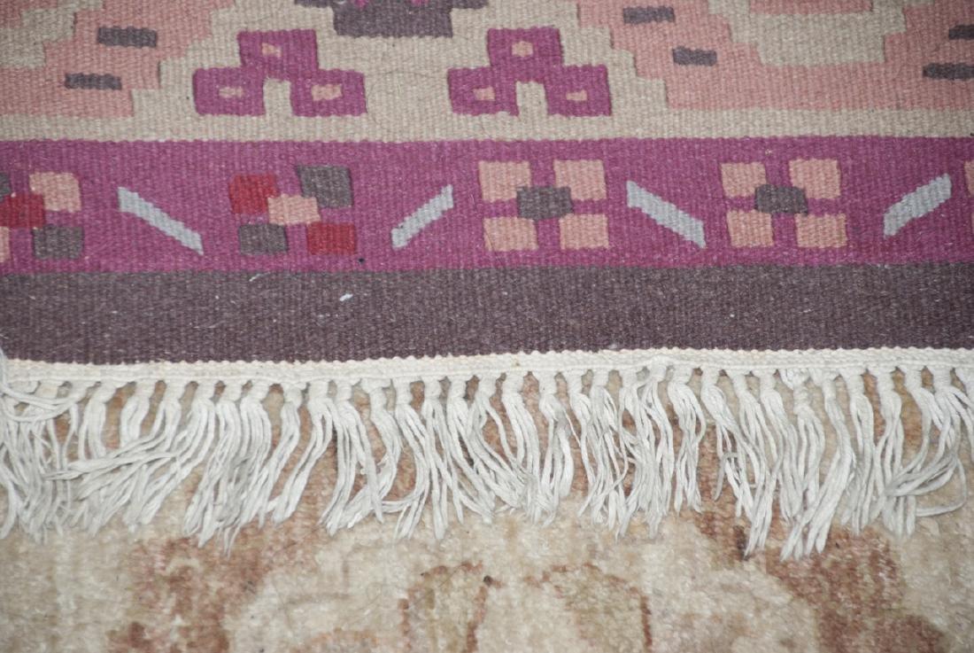 Large Dhurrie Style Wool Rug Southwestern Pattern - 3