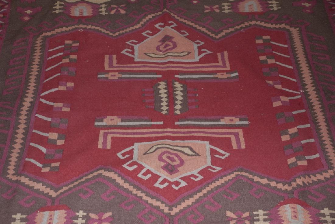 Large Dhurrie Style Wool Rug Southwestern Pattern - 4