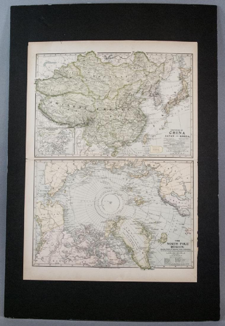 Antique 19th C Victorian China Japan Korea Map