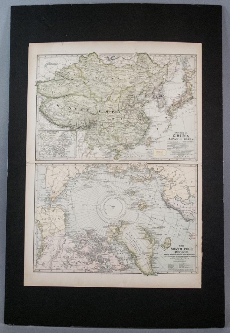 Antique 19th C Victorian China Japan Korea Map