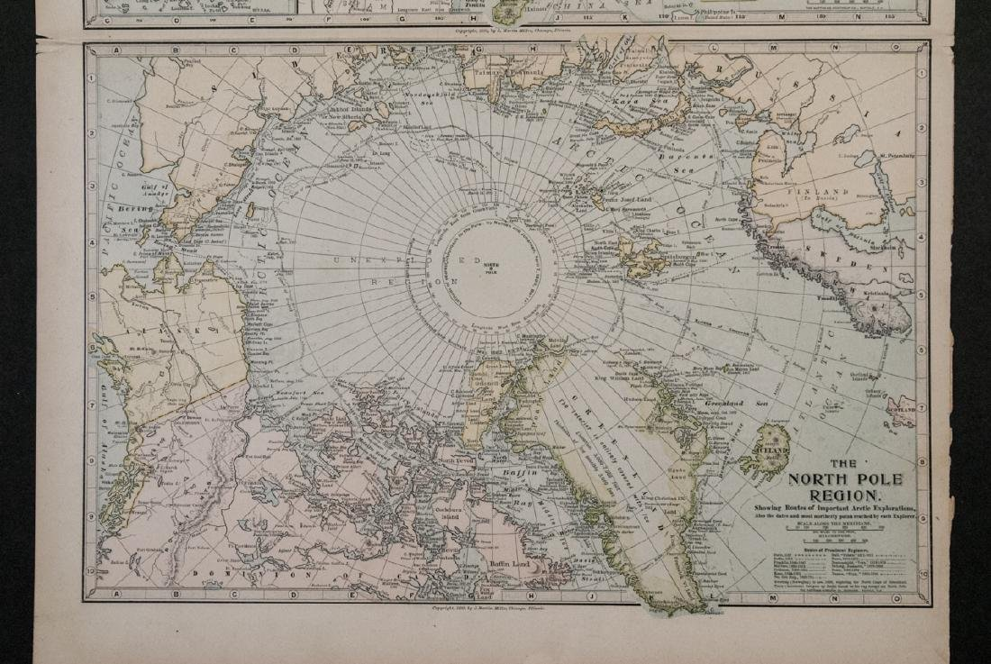 Antique 19th C Victorian China Japan Korea Map - 2